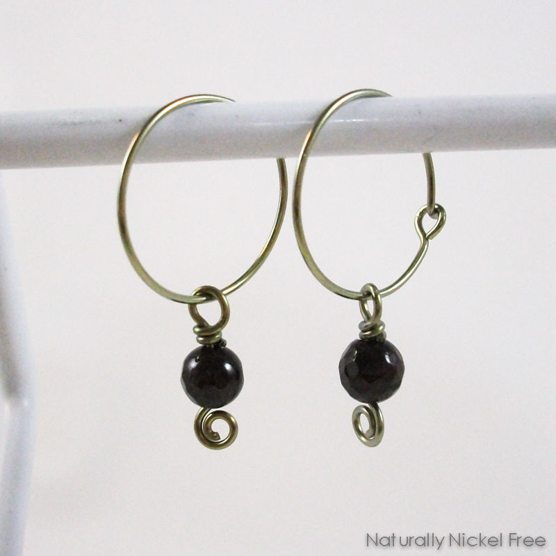 Garnet Hoop Earrings Product Images Of