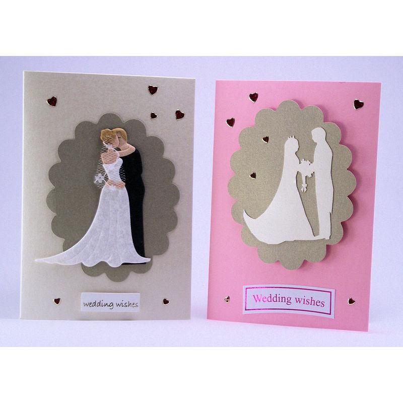 Two Handmade Wedding Cards Inspired Glass