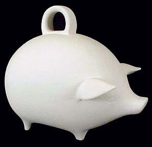 Piggy Bank In Ceramic Bisque Kgkrafts S Boutique