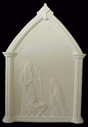 Nativity Plaque In Ready To Paint Ceramic Bisque