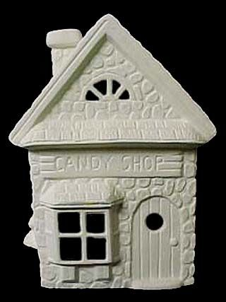 Scioto Christmas Candy Shop In Ready To Paint Ceramic