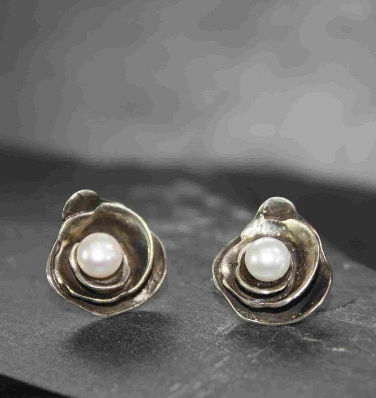 Trinity Rose Pearl Earrings Product Images Of