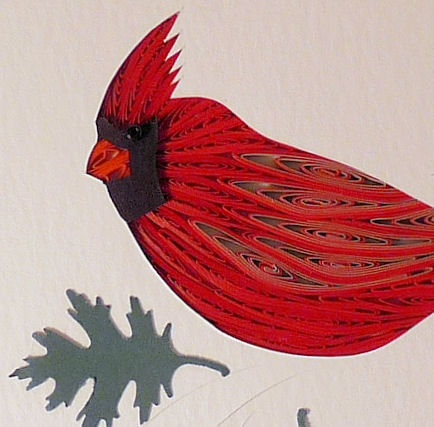 Quilled Cardinal Wall Art Handmade Quilling By Sandra
