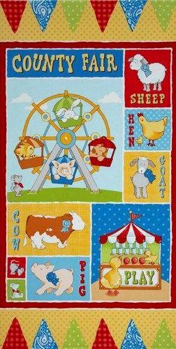 Quilt Fabric Panel Cuteville Country Fair Farm Fabric Baby