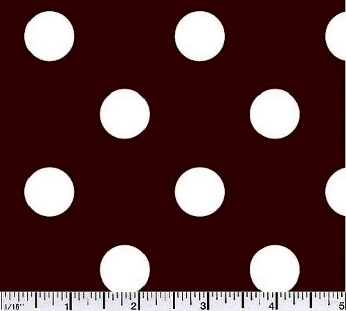 Cotton Quilt Fabric Big Dot Polka Dots Cocoa Brown And