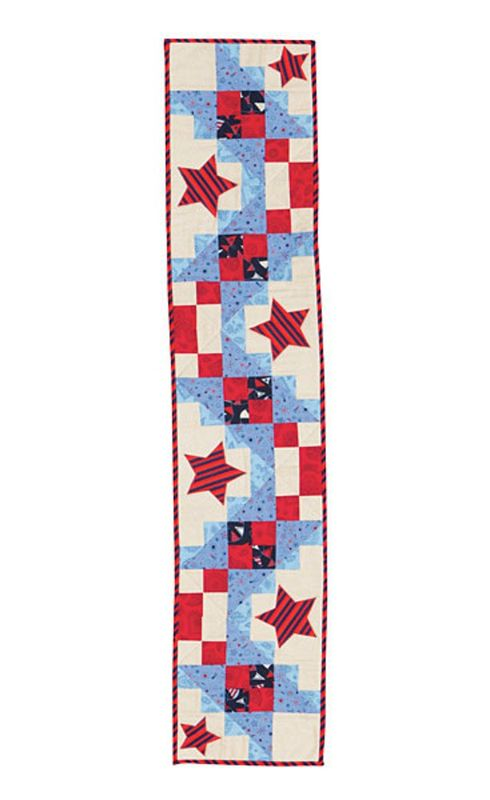 Brilliant All Stars Table Runner Kit Red White And Blue Patriotic American Home Interior And Landscaping Eliaenasavecom