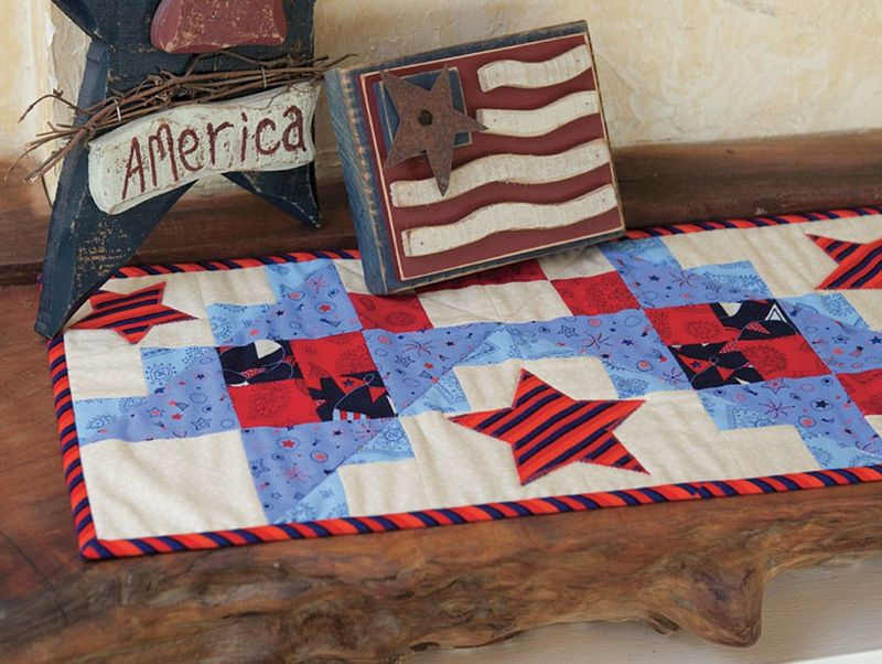All Stars Table Runner Kit Red White And Blue Patriotic