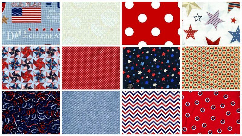 Patriotic Valor Stash Builder Quilt Fabric Red White Blue