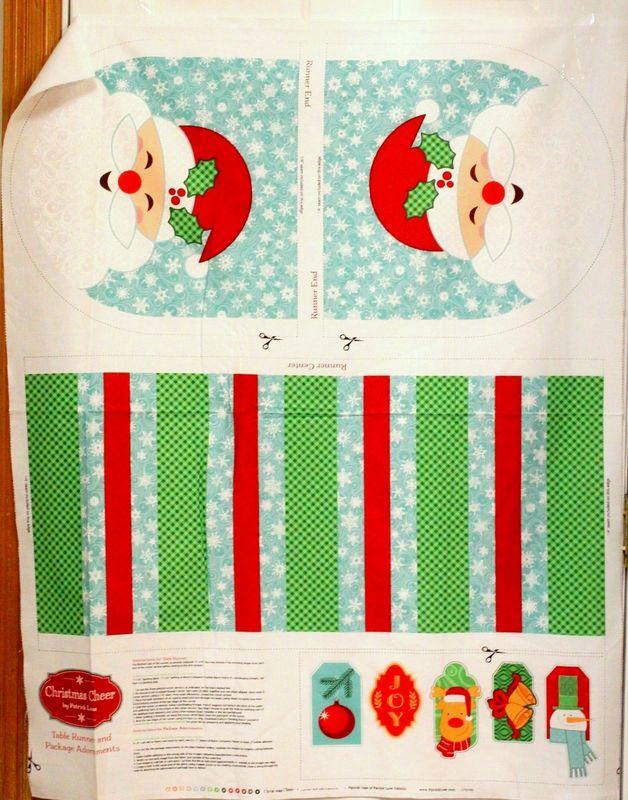 Cotton Quilt Fabric Santa S Stash Christmas Cheer Table