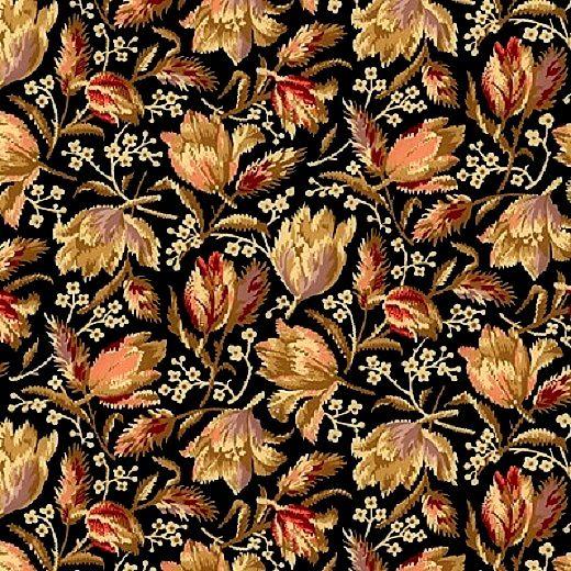 Cotton Quilt Fabric Bristol Medium Floral Reproduction