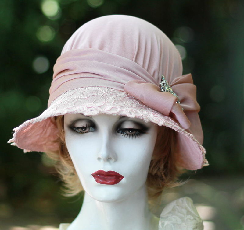 Mother Of The Bride Formal Lace Wide Brim 20 S Hat Product Image
