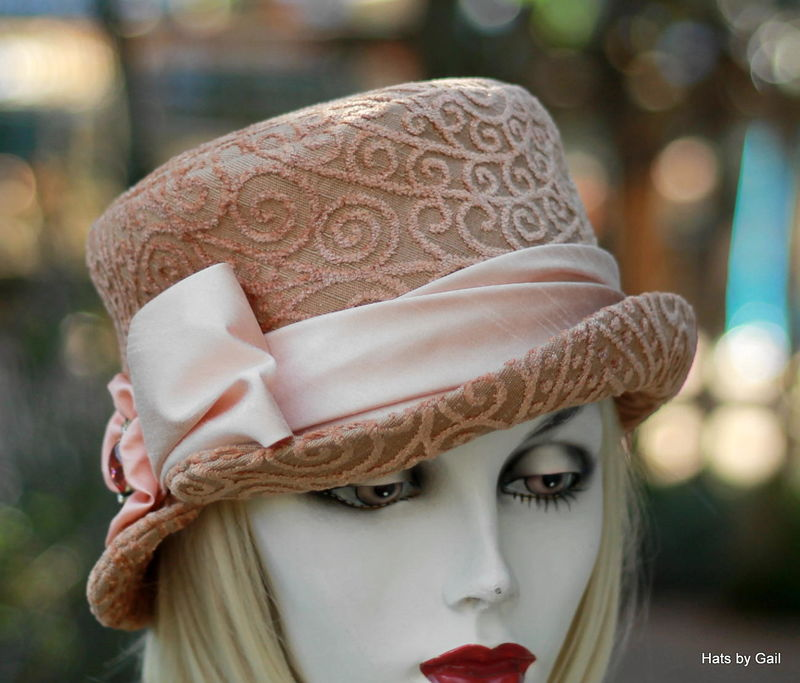 Formal Dress Hat Weddings Tea Party Mother Of The Bride Peach Product Image
