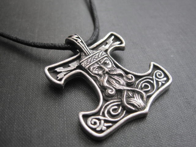 Thors Hammer Norse Amulet Cord Necklace