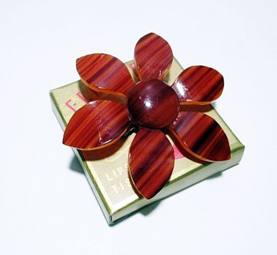 60463072d Vintage 1960s Mod Era Brown Lucite Plastic Flower Brooch Pin Statement  Piece - product images of ...