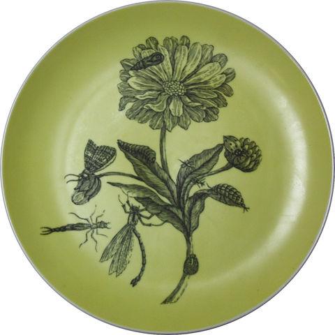 Blue Amp White Thistle Botanical Decorative Upcycled Plate