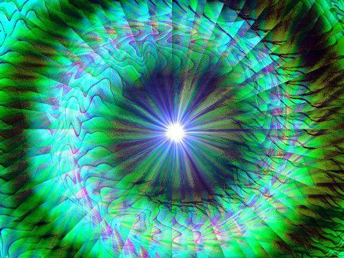 Abstract Art Green Chakra Swirl Energy Art Wall Decor New Growth