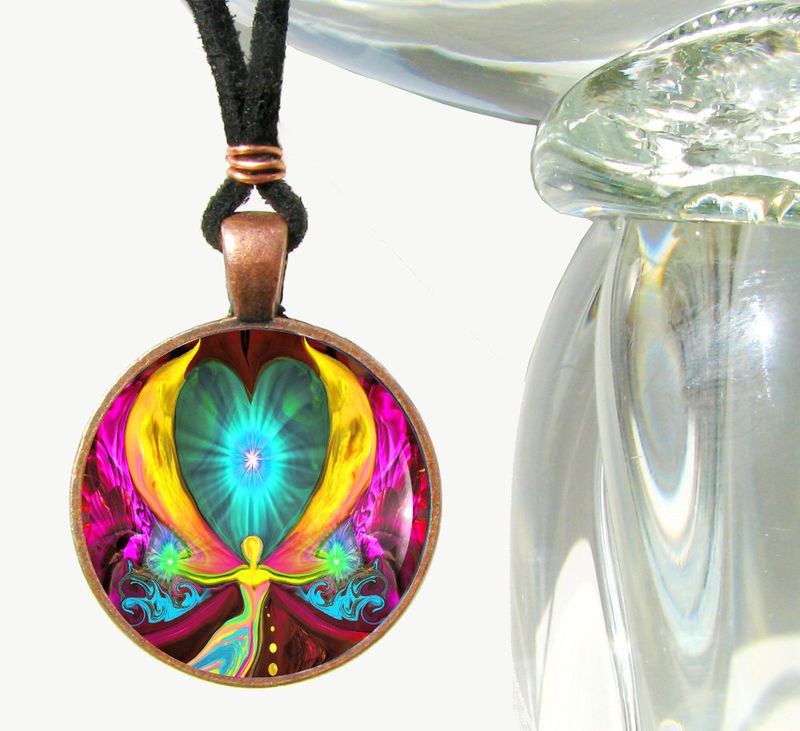 Chakra Jewelry Spiritual Healing Necklace Reiki Pendant