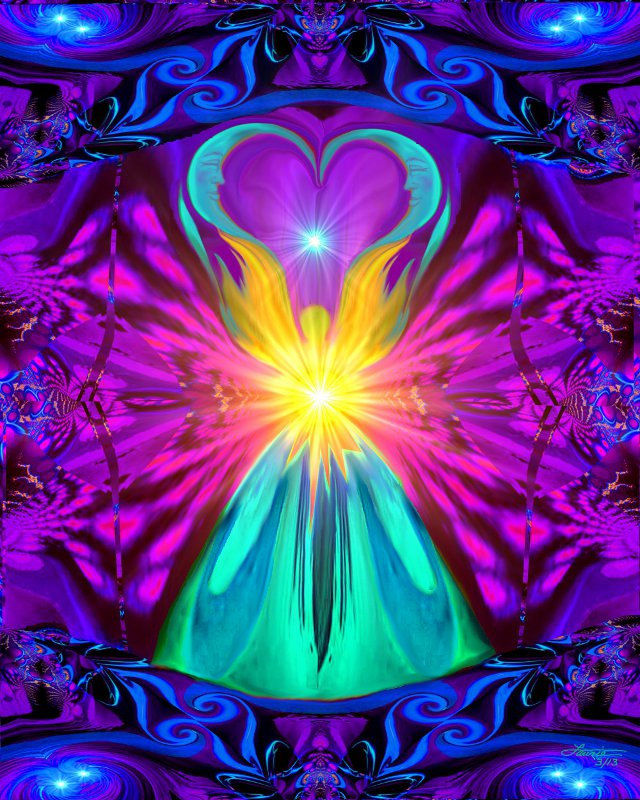 Rainbow Wall Decor Angel Art Reiki Energy Healing Quot The
