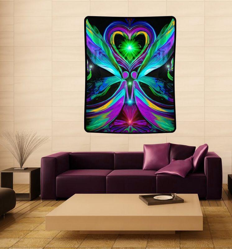 Twin Flame Tapestry Angel Art Reiki Wall Decor
