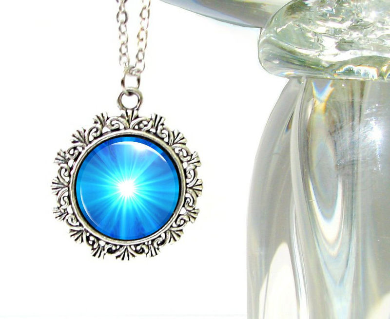 Blue Jewelry Throat Chakra Necklace Handmade Feminine