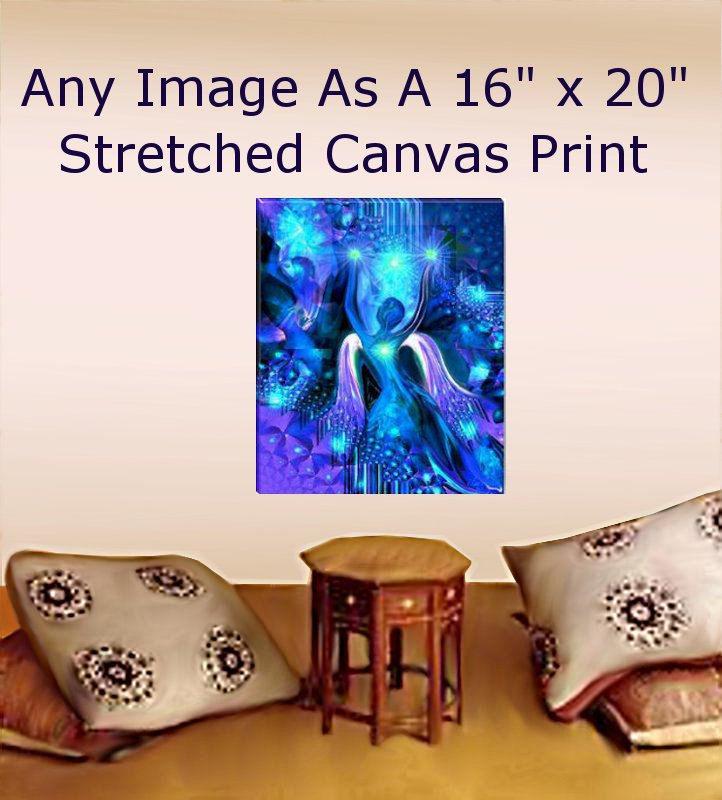 Large Canvas Giclee Print Yoga Meditation Wall Decor 16 X 20