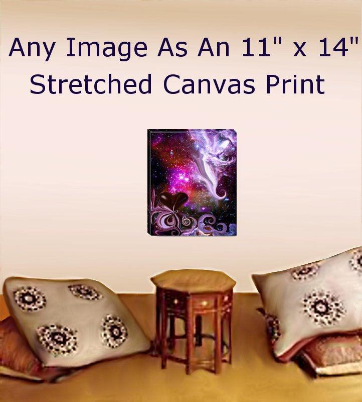 Stretched Canvas Print Reiki Wall Decor Meditation Room Energy Art 11 X 14 Primal Painter