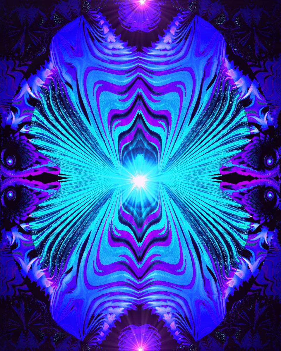 Purple Teal Abstract Print, Reiki Energy Wall Decor ...