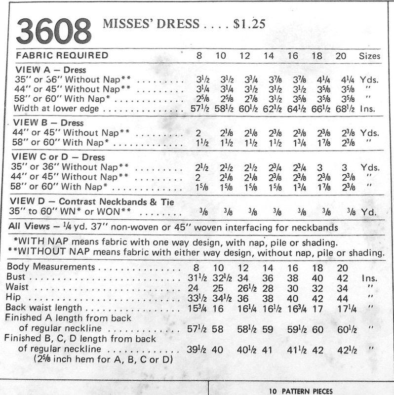 Fit Flare Aline Dress W Notch Neckline 1970s Pattern Mini