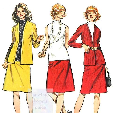 Scooped Neck Top And Flared Skirt 1970s Pattern Mini