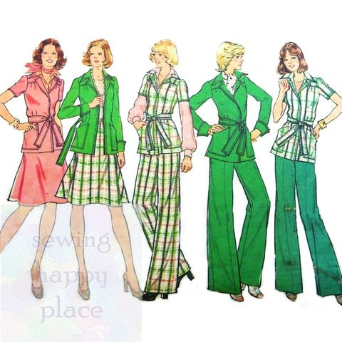 Butterick 5354 Suit Wardrobe 1960s Pattern Cardigan