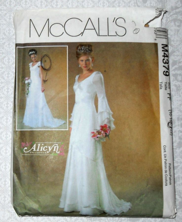 Plus Size Wedding Gown Patterns: Bridal Gown Sewing Pattern. Plus Size. Cascade Sleeves And