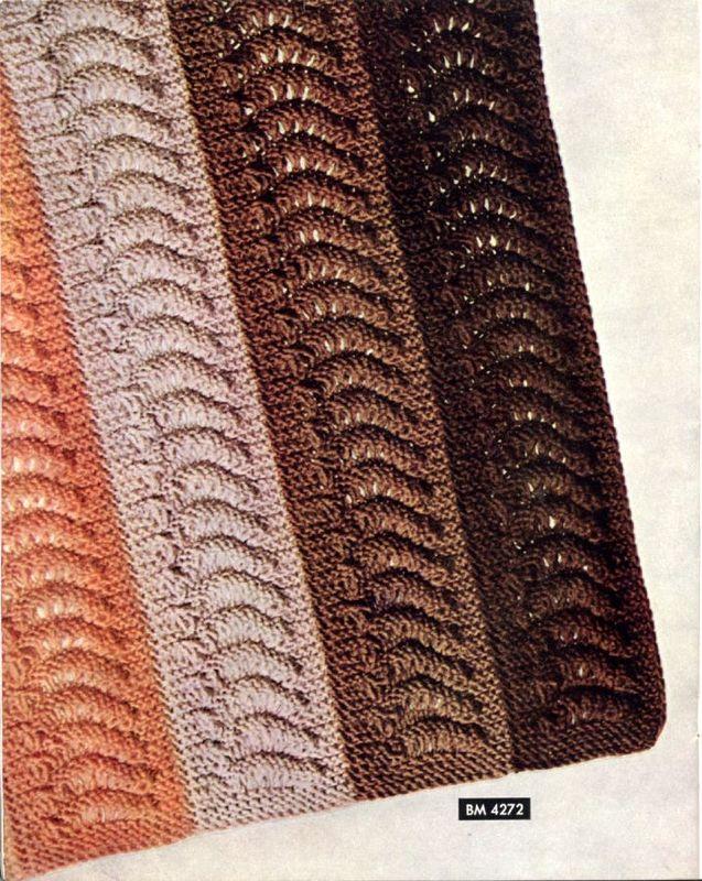Knitting Pattern - Vtg 40s Afghan Pattern Knit in Strips ...