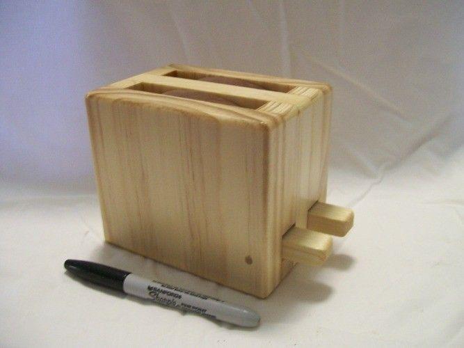 Toy Wooden Toaster Cute Handmade Kitchen Appliance Ss