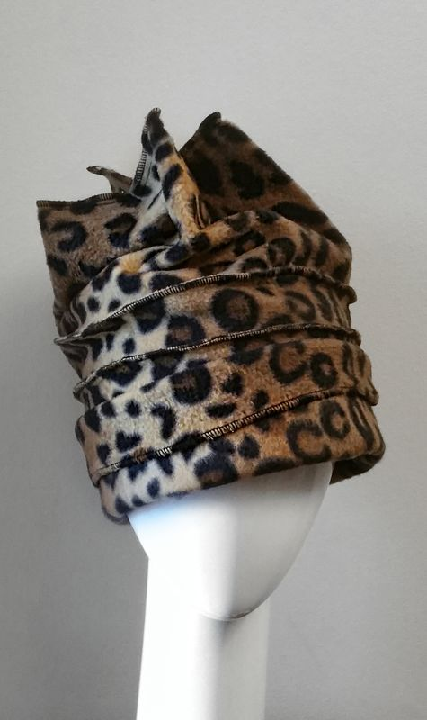 fac2e5f3712 Leopard Four Point Slouch Fleece Hat - Crylittle Designs