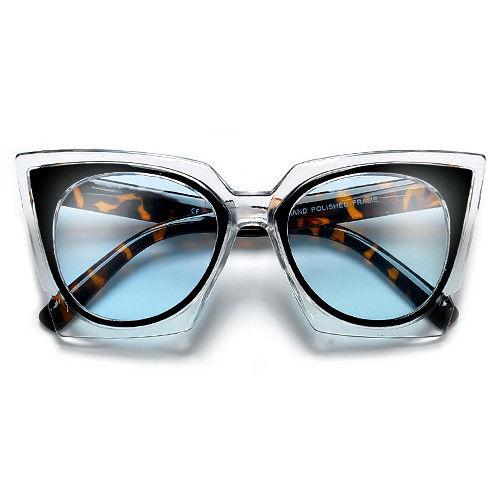 Angular Retro Round Cat Eye Silhouette Glamour Infused