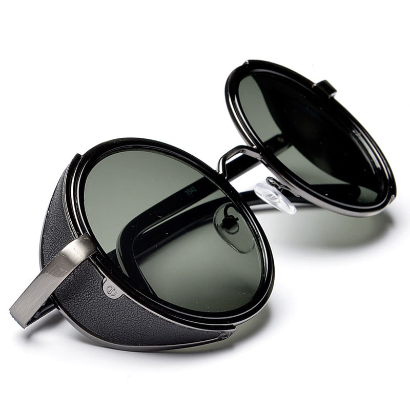 Victorian Steampunk Vintage Fashion Full Metal Round Lens Sunglasses - Crylittle  Designs 6421bb550680