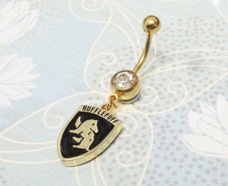 06ff451ff Harry Potter Hufflepuff Belly Ring - Pinz'n'Thingz
