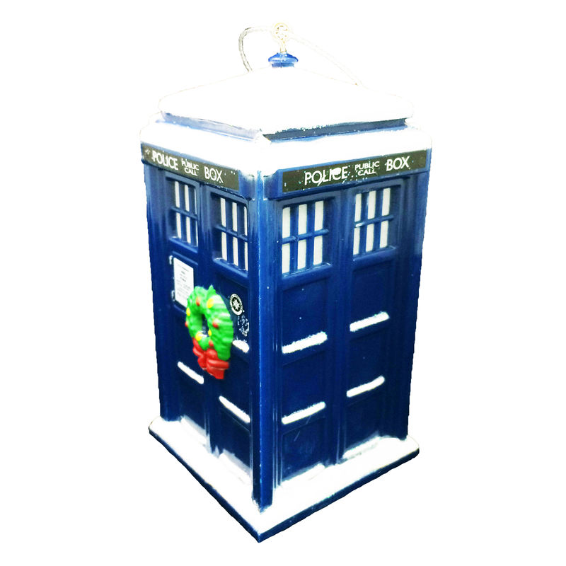 Doctor Who TARDIS with Wreath Christmas Ornament - Pinz'n ...
