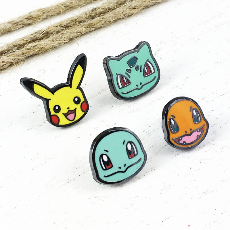Starter Pokémon Mini Enamel Pin Set