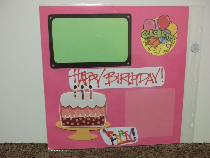 Happy Birthday Premade Scrapbook Page Premade Scrapbook