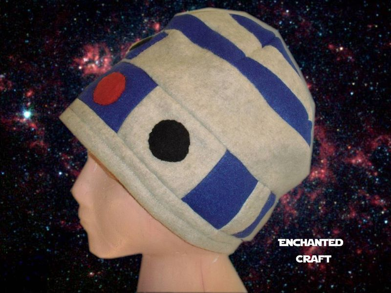 ea8a1743963 R2-D2 Fleece Beanie Hat- hand made and warm for Star Wars fans ...