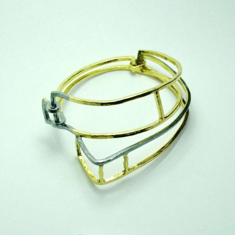 Im Xxxii Gold Plated Cuff Bracelet Jewellery Online