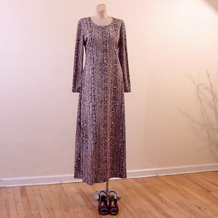 70s Slinky Diane Von Furstenberg Maxi Dress 42b 34w