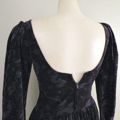 Vintage Wedding Dresses Omaha Ne: 80s Purple Velvet Laura Ashley Dress
