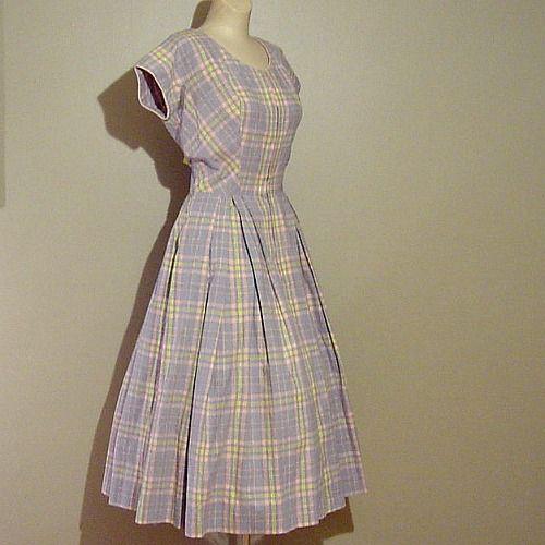 50s Bright Days Dede Johnson Dress 38b 28w Pretty Sweet