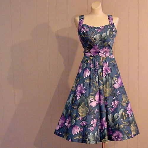 60s Tropical Harvey Berin Karen Stark Sun Dress 34b 24w
