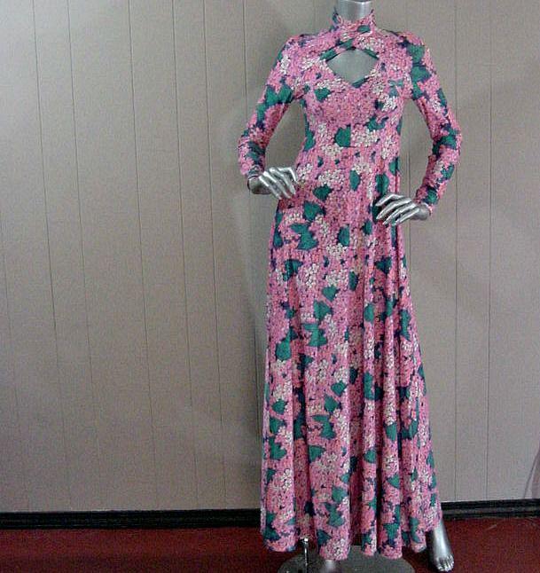 c5abaae877b 70s Fabulous Floral Robert David Morton Long Dress 34b 30w - Pretty Sweet  Vintage