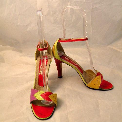 70s 80s Fresh Fruit D Antonio High Heel Shoes 8 5 Pretty