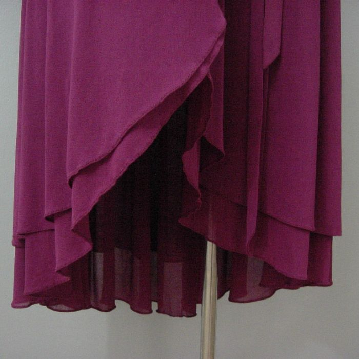 ab42b8db3f7 70s Contempo Casuals Raspberry Disco Dress Small - Pretty Sweet Vintage