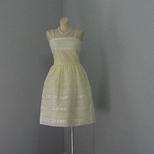 c28f5cb5ab6b 60s Vicky Vaughn Party Dress XS Small - Pretty Sweet Vintage